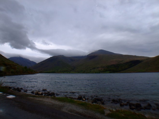 Wastwater with Scafell in the background.