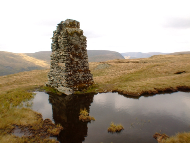 Survey Pillar and baby Tarn.
